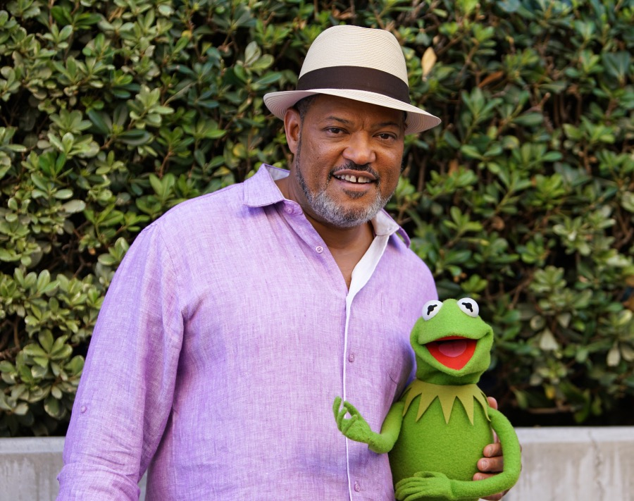 """THE MUPPETS""- LAURENCE FISHBURNE, KERMIT THE FROG.   JOYCE KIM LEE, COSTUME DESIGNER."