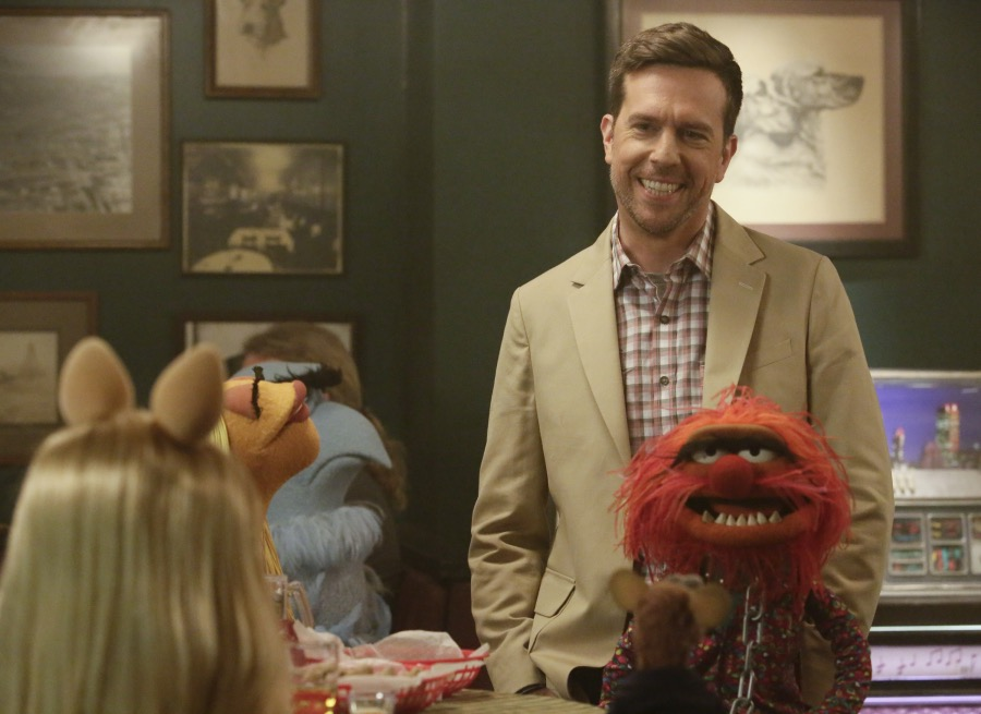 """THE MUPPETS""-ED HELMS, ANIMAL. JOYCE KIM LEE, COSTUME DESIGNER."