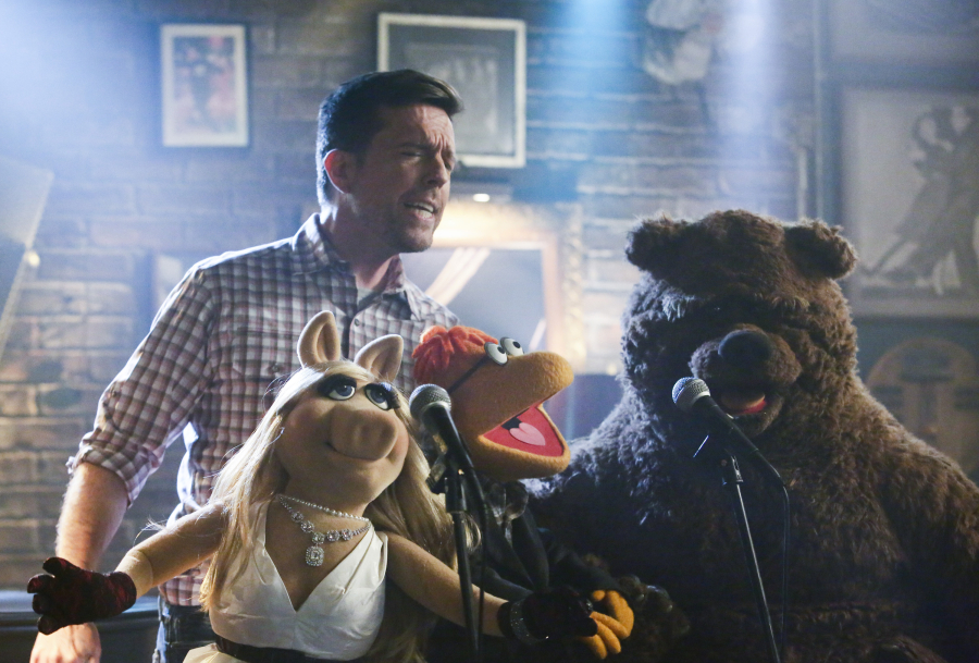"""THE MUPPETS""- ED HELMS, MISS PIGGY, SCOOTER, BOBO THE BEAR.  JOYCE KIM LEE, COSTUME DESIGNER"