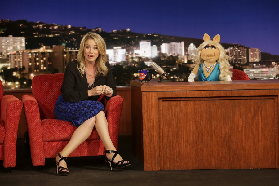 CHRISTINA APPLEGATE, MISS PIGGY.  JOYCE KIM LEE, COSTUME DESIGNER.